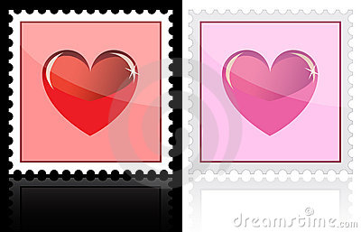 Postage with heart icon