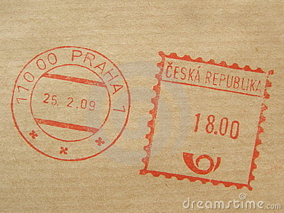 Postage meter from Prague
