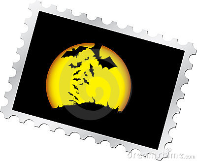Postage stamp - 13. Halloween s night