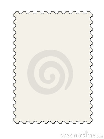 Postage stamp border (vector)