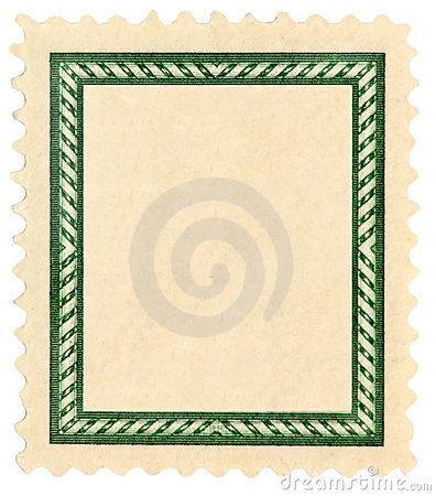 Postage stamp with frame