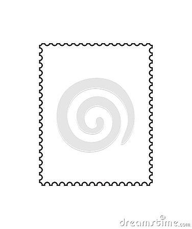 Postage stamp outline [vector]