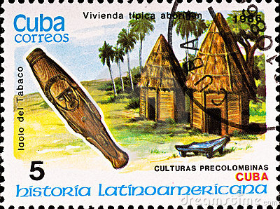 Postage stamp shows example Cuban culture