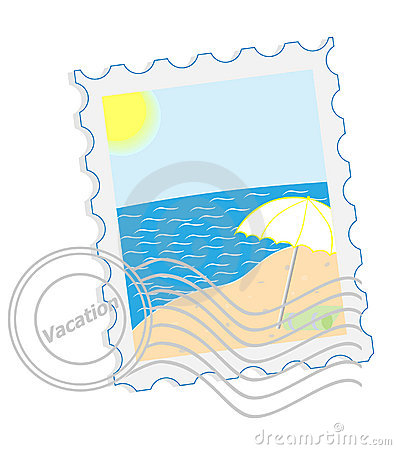 Postage stamp - Vacation