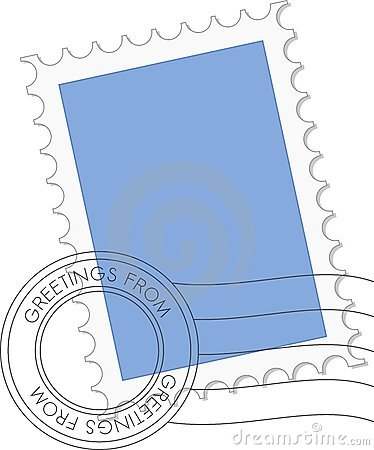 Postage Stamp In Vector Royalty Free Stock Images - Image ...