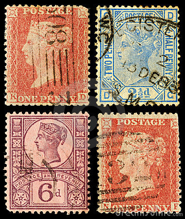 Postage Stamps Britain Queen Victoria