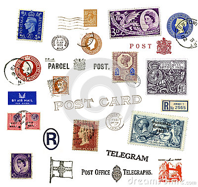 Postage stamps and labels from United Kingdom