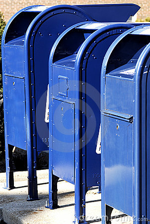 Free Postal Boxes In A Row Stock Images - 4911784