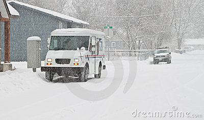 Postal delivery Editorial Stock Photo