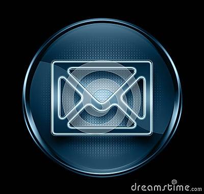 Postal envelope icon dark blue.
