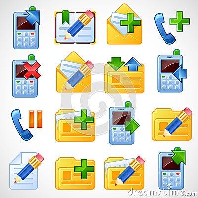 Postal icons. Set2