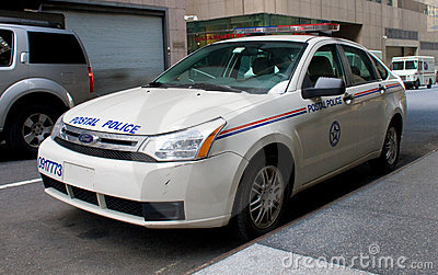Postal Police Patrol Car Editorial Stock Photo