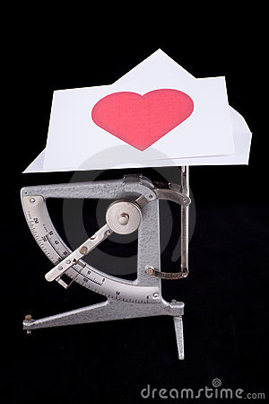 Postal scale with Valentine s letter