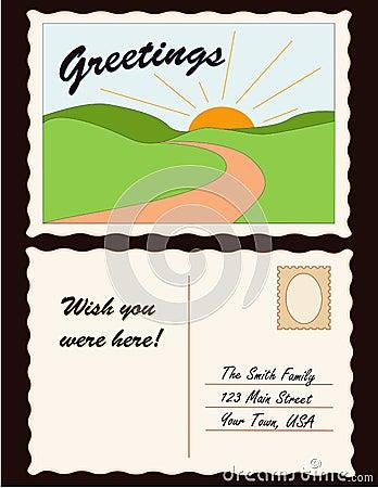Free Postcard, Add Location Royalty Free Stock Photo - 4316505