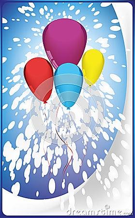 Postcard balloons