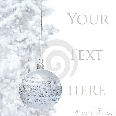 Postcard with Christmas bauble