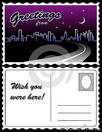 Postcard, City Skyline