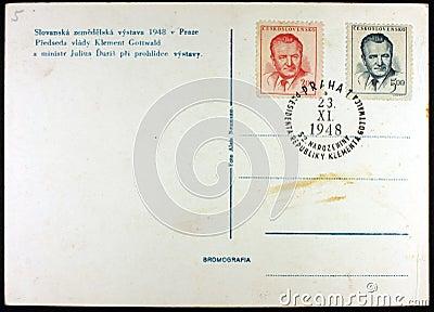 Postcard, Exhibition Prague, 1948