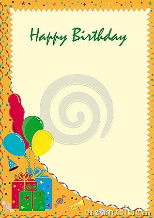 Postcard Happy Birthday