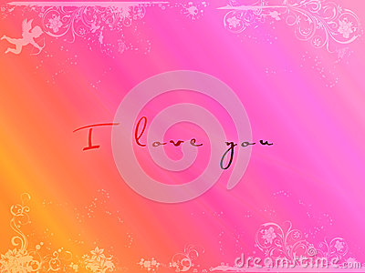 Postcard I love you, Valentine s Day