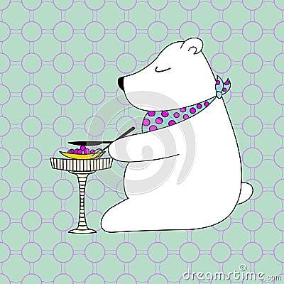 Postcard little bear