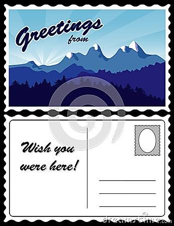 Postcard, Mountain Landscape
