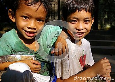 Postcard sellers, Cambodia.