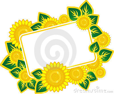 Postcard with Sunflowers