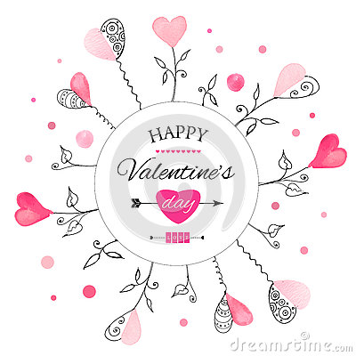 Postcard for Valentine s day Vector Illustration