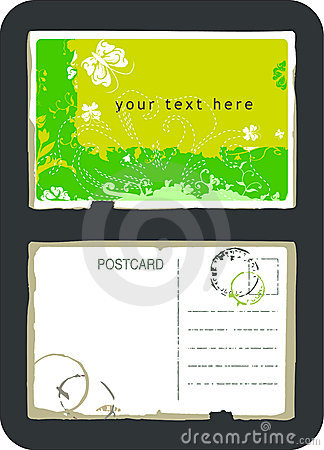 Postcard vector vintage