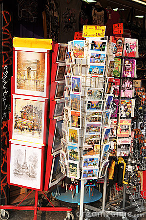 Postcards from Paris Editorial Stock Image
