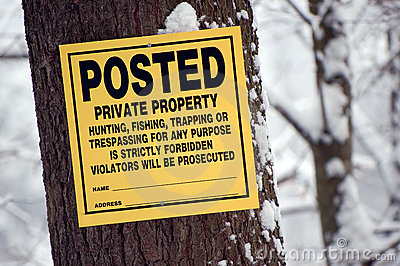 Posted: Private property