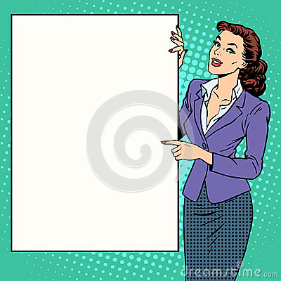 Free Poster Businesswoman Style Your Brand Here Stock Photo - 65285110