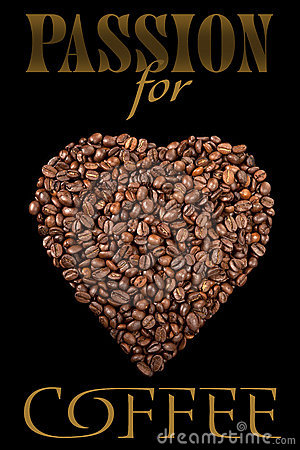 The poster with coffee beans