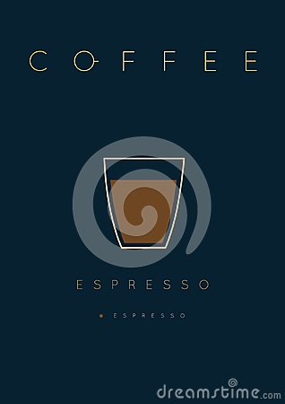 Free Poster Coffee Espresso Stock Images - 109766064