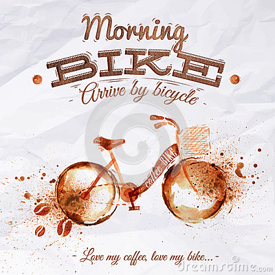 Free Poster Coffee Spot Bike Royalty Free Stock Images - 41428879