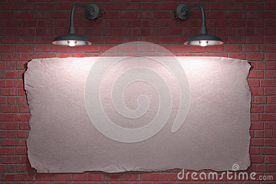 Poster de duas lâmpadas