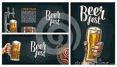 Beer tap. Vintage vector engraving illustration for web, poster, invitation to beer party. Vector Illustration