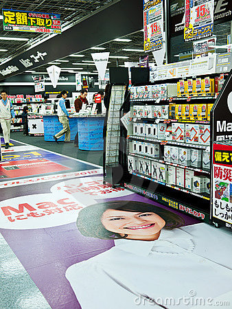 Poster on floor in akihabara Editorial Stock Image