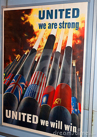 Poster forte unido Foto de Stock Editorial