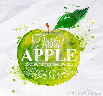 Free Poster Fruit Apple Green Stock Photo - 41045090