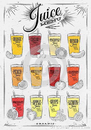 Free Poster Juice Menu Royalty Free Stock Image - 59049046
