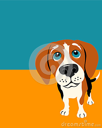Poster layout with Beagle Dog