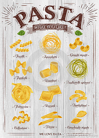 Free Poster Pasta Wood Royalty Free Stock Photos - 47876118