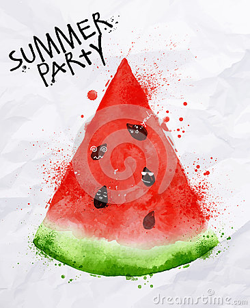 Free Poster Summer Party Watermelon Stock Photos - 51088933