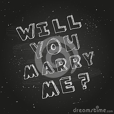 Poster Template For Marriage Proposal Design Vector Image – Marriage Proposal Template