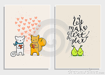 Posters With Funny Phrases About Love Vector Image 71019673 – Phrases for Valentines Cards
