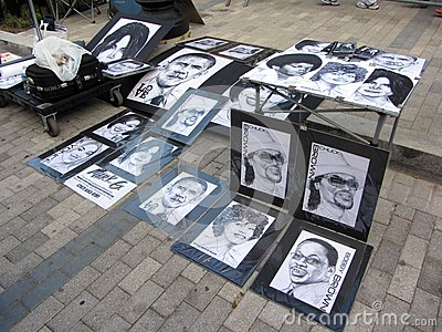 Posters for Sale Editorial Stock Photo