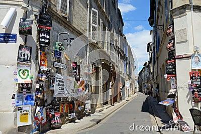 Posters on the street, Avignon Theater Festival