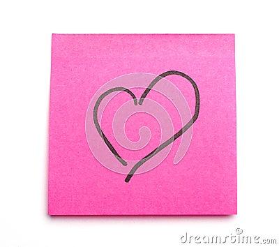 Postit heart